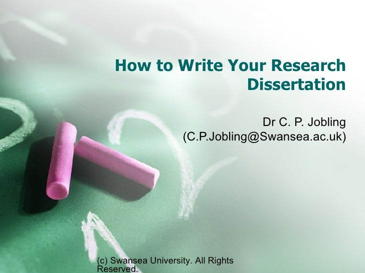 How to Write Up a Ph.D. Dissertation