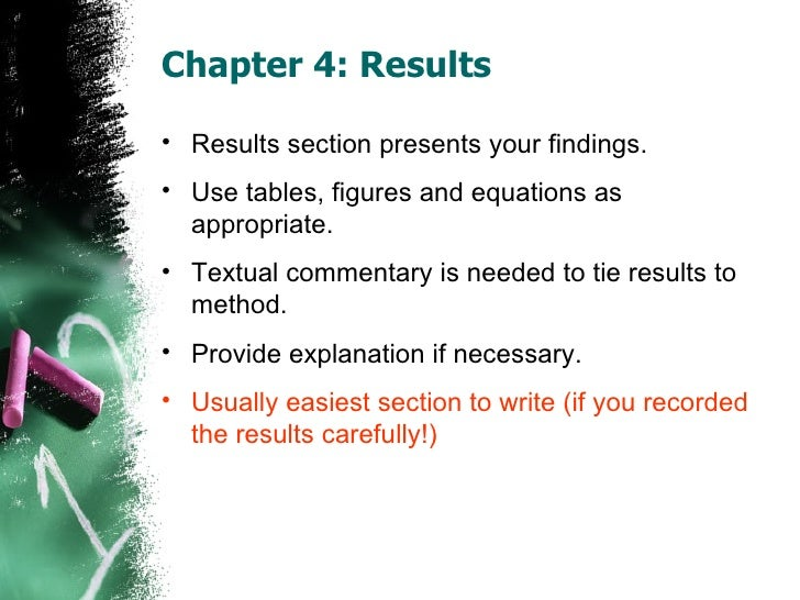 phd dissertation findings chapter As an aide to the reader the final chapter of this dissertation provides a brief in the following section of this chapter the main findings are reviewed for each.