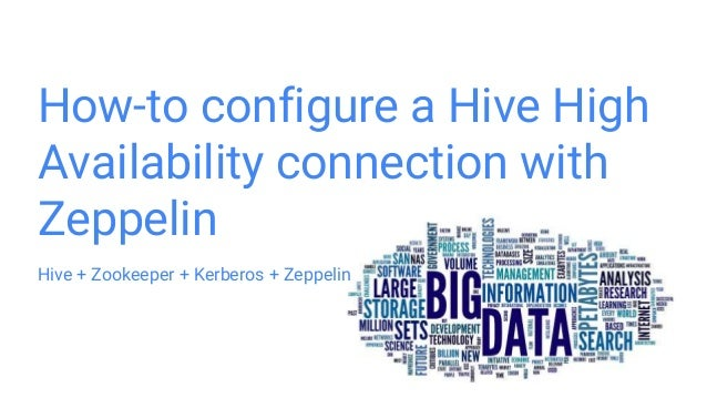 How to configure a hive high availability connection with