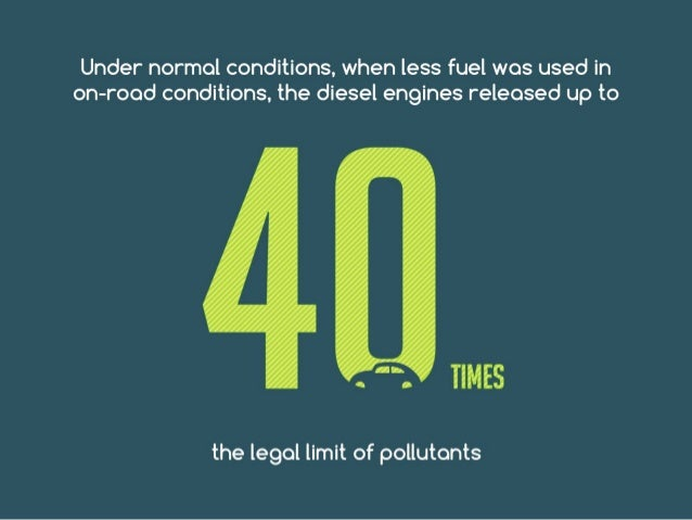 Under normal conditions, when less fuel was used in on- road conditions, the diesel engines released up to 40 times the le...