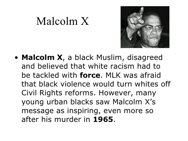 a comparison between the ideals of martin luther king and malcolm x The aim of this work is to investigate if there were differences between malcolm x  and martin luther king, jr that would justify the portrayal as adversaries or if.