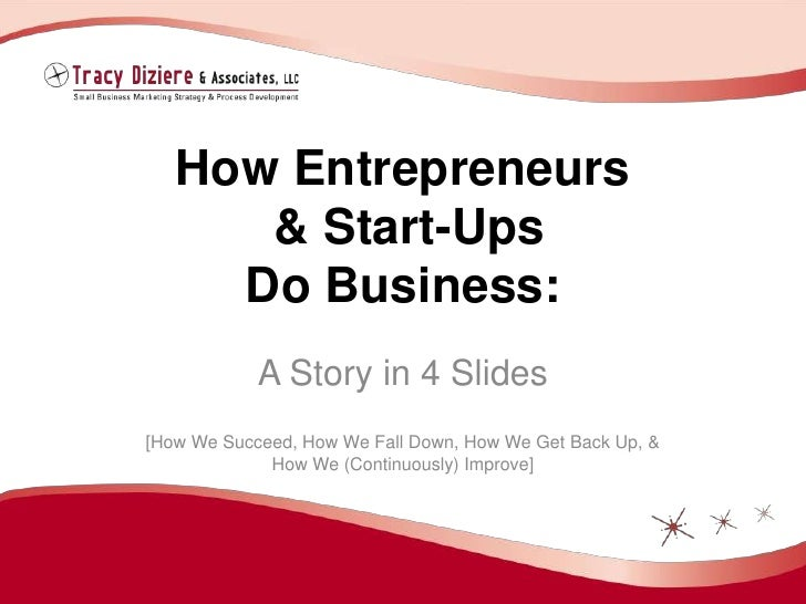 How Entrepreneurs& Start-UpsDo Business:<br />A Story in 4 Slides<br />[How We Succeed, How We Fall Down, How We Get Back ...