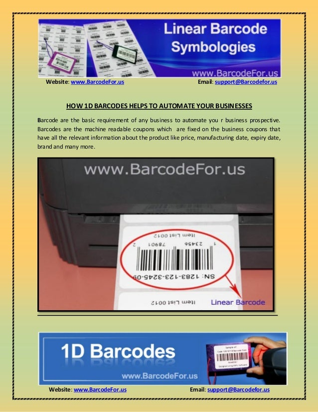 Website: www.BarcodeFor.us Email: support@Barcodefor.us Website: www.BarcodeFor.us Email: support@Barcodefor.us HOW 1D BAR...