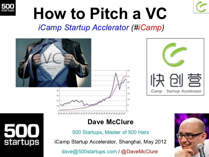 How to Pitch a VCiCamp Startup Acclerator (#iCamp)                 Dave McClure           500 Startups, Master of 500 Hats...