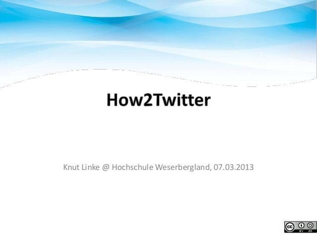 Knut Linke @ Hochschule Weserbergland, 07.03.2013