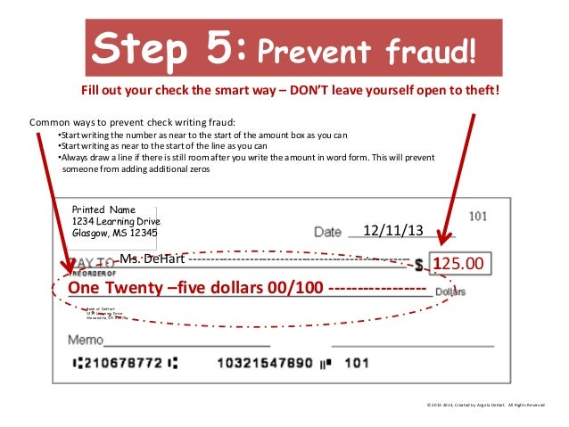 How to Write a Check: An Overview