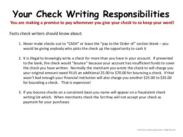 How to write a check an overview 19 ccuart Choice Image