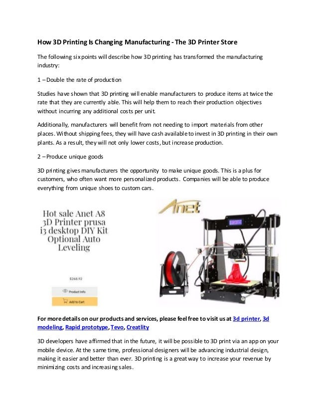 image regarding Free 3d Printable D&d Miniatures titled How 3 d printing is switching producing the 3d printer retailer