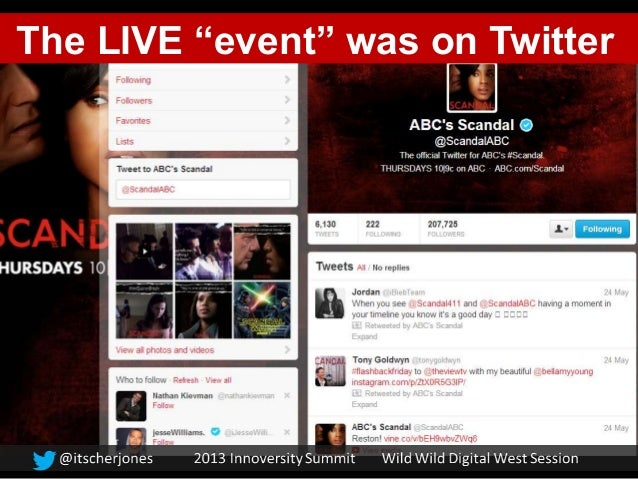 """The LIVE """"event"""" was on Twitter"""