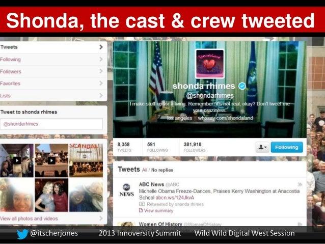 Shonda, the cast & crew tweeted