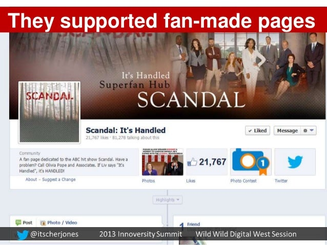 They supported fan-made pages