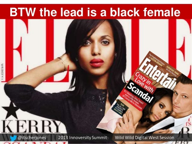 BTW the lead is a black female