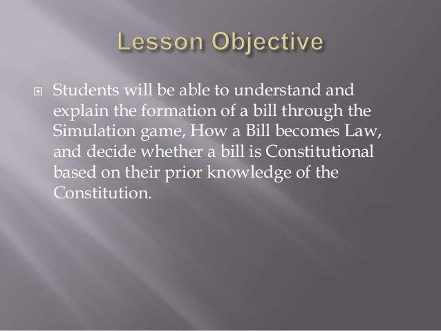 essay on how a bill becomes law Legislative worksheet (sbar format) - how a bill becomes a law as you have discovered through this course, nurses are influential members of the community and the political system.