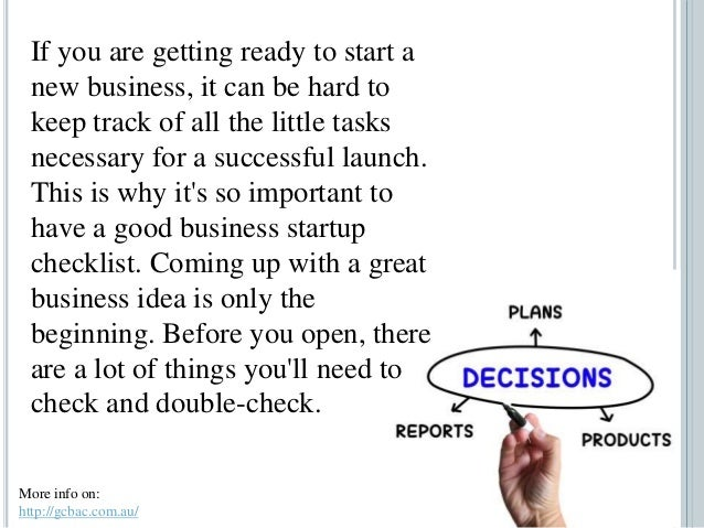 How A Business Startup Checklist Can Help You Get Organized Slide 2