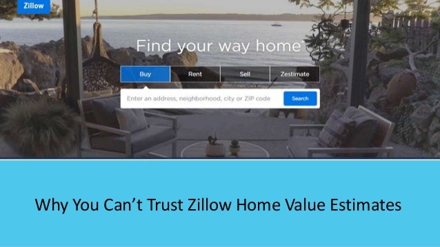 how accurate are zillow home value estimates