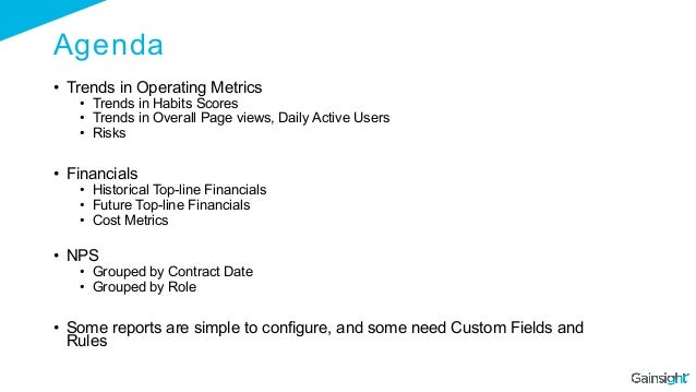 Agenda • Trends in Operating Metrics • Trends in Habits Scores • Trends in Overall Page views, Daily Active Users • Ri...