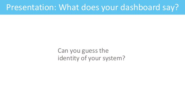 Feature: Fitness CriteriaPresentation: What does your dashboard say? Can you guess the identity of your system?