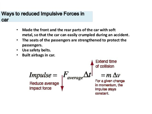 how airbag reduces the impulsive force
