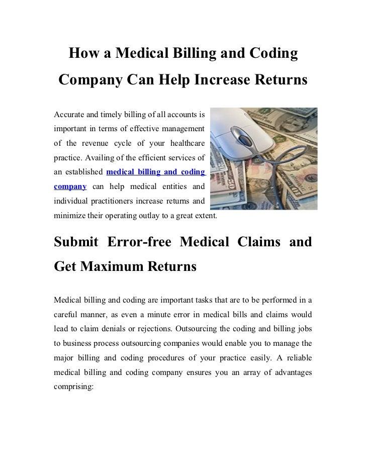 Steps in medical billing process essay