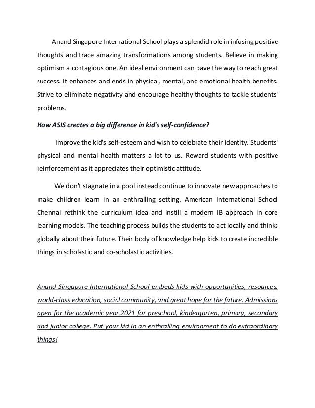 How american international school chennai is a learning environment expertise Slide 2