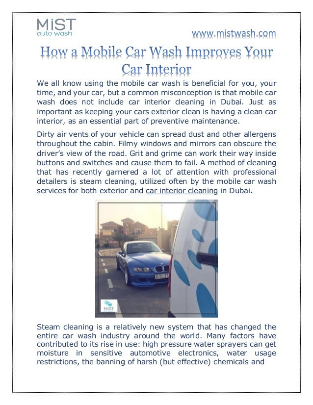 How A Mobile Car Wash Improves Your Car Interior