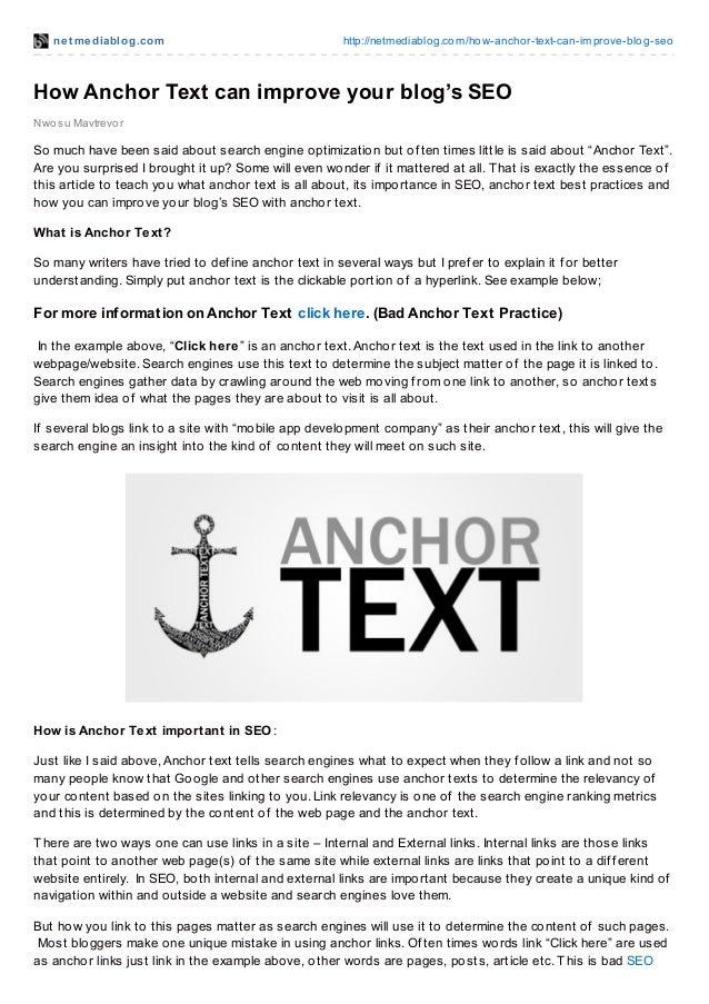 net mediablog.com http://netmediablog.com/how-anchor-text-can-improve-blog-seo Nwosu Mavtrevor How Anchor Text can improve...