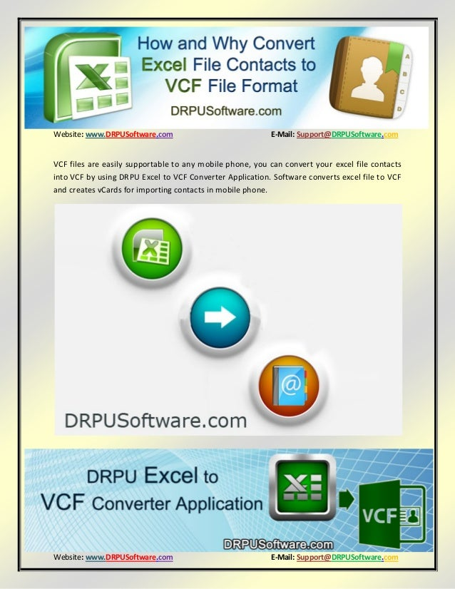 How and why convert excel file contacts to VCF File Format