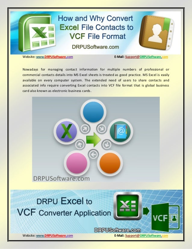 convert vcf file to excel