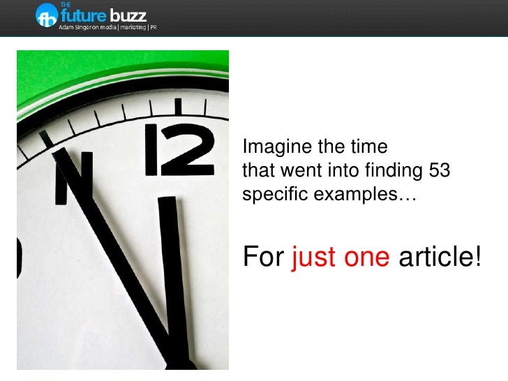 Imagine the time that went into finding 53 specific examples…For just one article!<br />