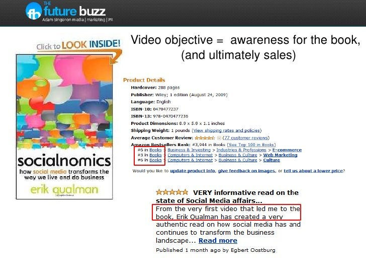 Video objective =  awareness for the book,  <br />              (and ultimately sales)<br />