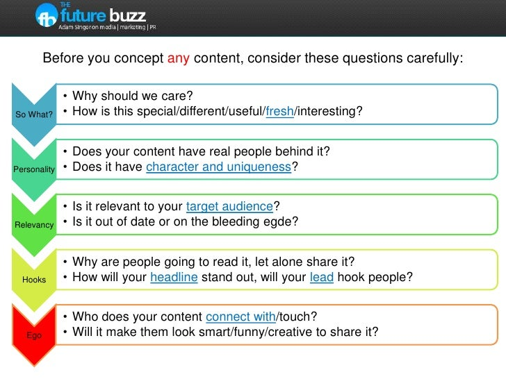Before you concept any content, consider these questions carefully:<br />