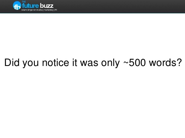 Did you notice it was only ~500 words?<br />