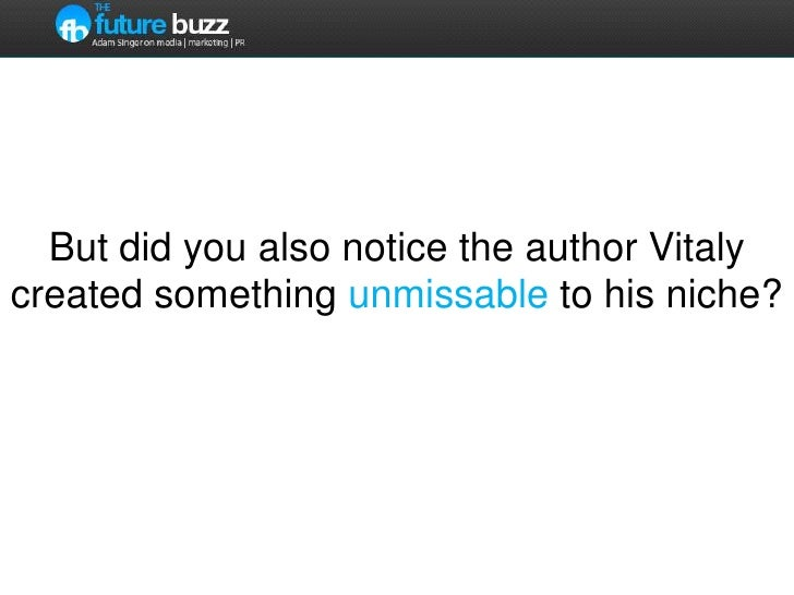 But did you also notice the author Vitaly created something unmissable to his niche?<br />