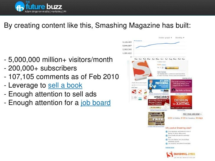 By creating content like this, Smashing Magazine has built:- 5,000,000 million+ visitors/month- 200,000+ subscribers- 107,...