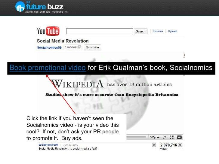 Book promotional video for Erik Qualman's book, Socialnomics<br />Click the link if you haven't seen the Socialnomics vide...