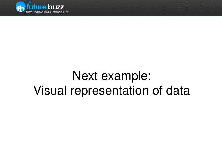 Next example:Visual representation of data<br />