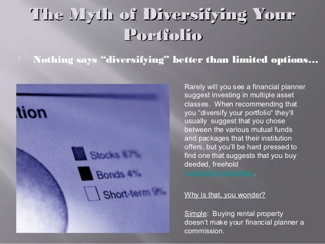 """The Myth of Diversifying YourThe Myth of Diversifying Your PortfolioPortfolio  Nothing says """"diversifying"""" better than li..."""