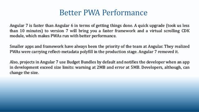 How Angular 7 Improves Development of Progressive Web Apps (PWAs)?