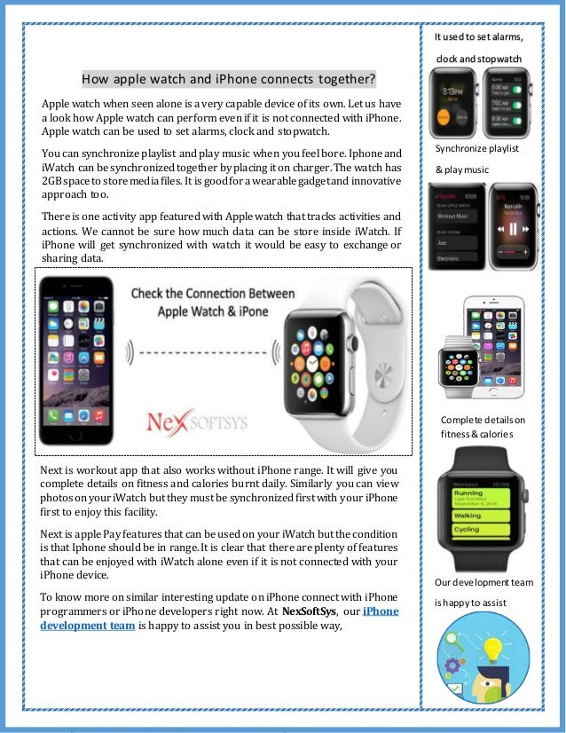 How apple watch and iPhone connects together? Apple watch when seen alone is a very capable device of its own. Let us have...