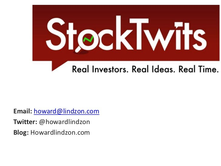 Email: howard@lindzon.com<br />Twitter: @howardlindzon<br />Blog: Howardlindzon.com<br />