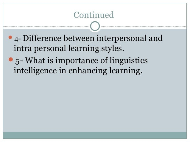 Compare and contrast two model of Intelligence Essay