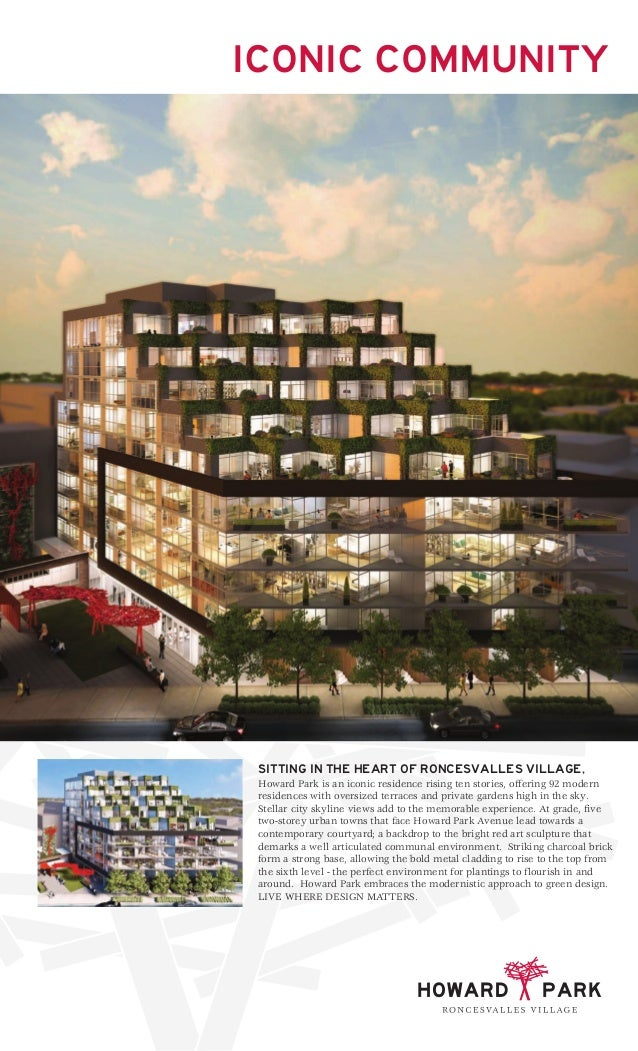 ICONIC COMMUNITY SITTING IN THE HEART OF RONCESVALLES VILLAGE, Howard Park is an iconic residence rising ten stories, offe...