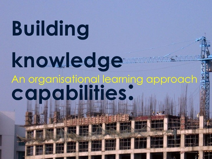 Building knowledge capabilities : An organisational learning approach
