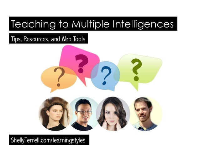 Teaching to Multiple Intelligences ShellyTerrell.com/learningstyles Tips, Resources, and Web Tools