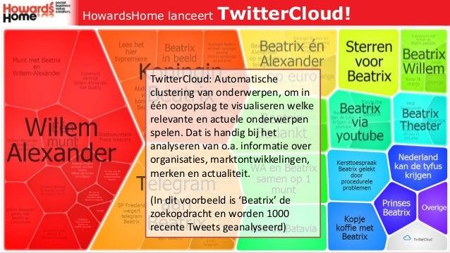 HowardsHome lanceert     TwitterCloud!          TwitterCloud: Automatische          clustering van onderwerpen, om in     ...
