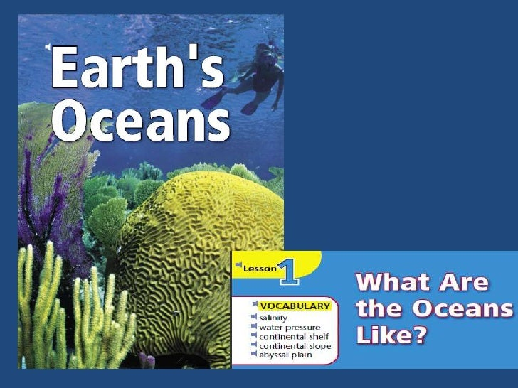 How are oceans like