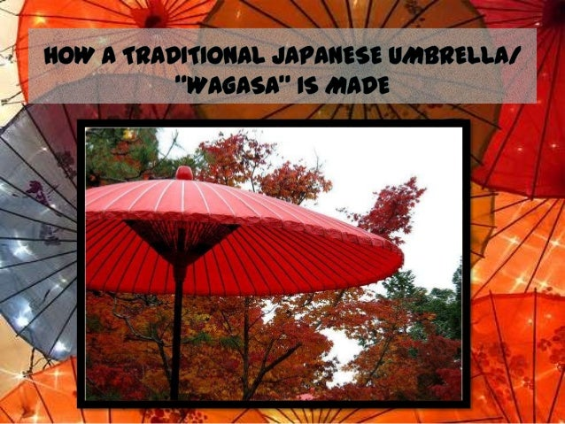 A Wagasa, Traditional Japanese umbrellas or rain  umbrella, made of bamboo and Washi (Japanese paper), is  delicately co...