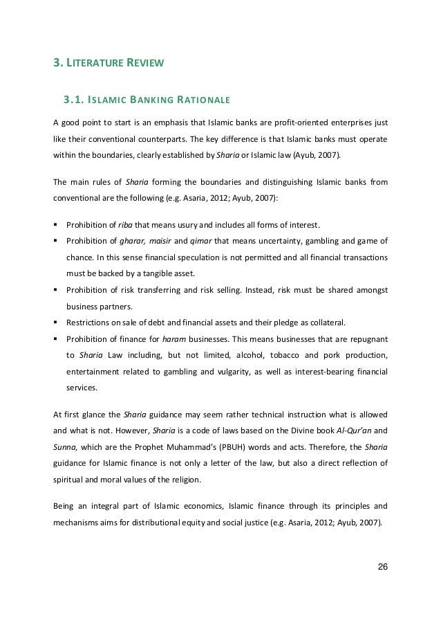 literature review of islamic finance