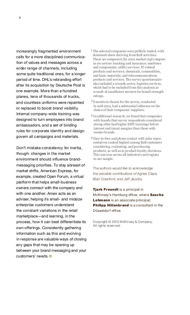 4  increasingly fragmented environment calls for a more disciplined communication of values and messages across a wider ra...