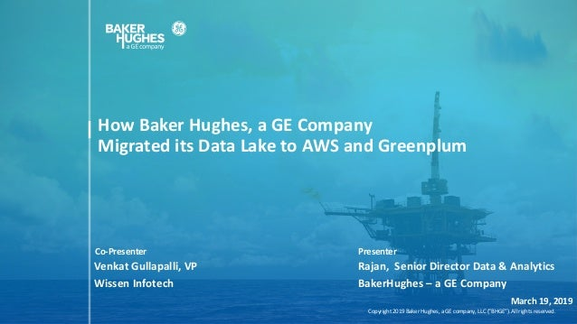 "Copyright 2019 Baker Hughes, a GE company, LLC (""BHGE""). All rights reserved.Copyright 2019 Baker Hughes, a GE company, LL..."